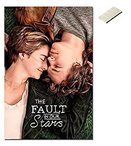 Bundle - 2 Items - The Fault In Our Stars One Sheet Poster - 91.5 x 61cms (36 x 24 Inches) and Small Block Of White Tack