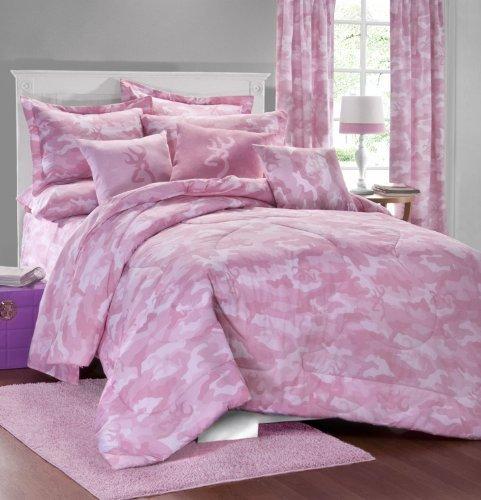 Tröster Set Camo (Browning Buckmark Pink Camo 7Pc Full Tröster Set (Tröster, 1Bettlaken, 1Spannbettlaken, 2Kissen, 2kissenrollen) sparen Big auf Bündelung. von kimlor)