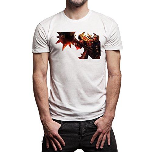 League Of Legends Champion Character Art Gearosh Herren T-Shirt Weiß