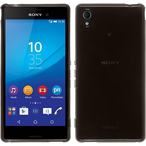 PhoneNatic Case für Sony Xperia M4 Aqua Hülle Silikon schwarz transparent Cover Xperia M4 Aqua Tasche + 2 Schutzfolien