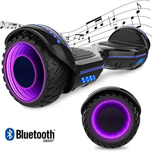 "GeekMe Elektro Scooter Self-Balance Scooter 6.5\"" - Bluetooth Lautsprecher - 700W Dual Motor - blinkendes LED-Lichtrad"