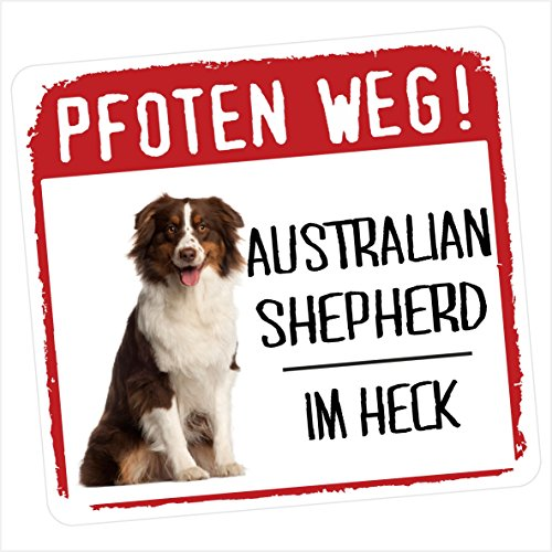 Siviwonder Australian Shepherd Motiv 1 Pfoten Weg Kleiner Auto Aufkleber Hundeaufkleber Reflektierend Reflective -