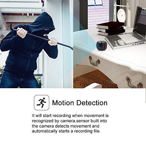 Telecamera Nascosta Spia Mini Microcamere TANGMI 1080P HD Spy Cam Videocamera Portatile Micro Telecamera di Sorveglianza Domestica Detección de Movimiento Angolo di Campo Visivo di 120 - 4