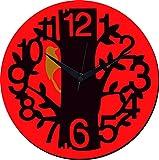 Mesleep Tree Wall Clock With Glass Top