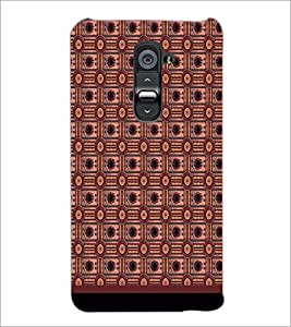 PrintDhaba Pattern D-1724 Back Case Cover for LG G2 (Multi-Coloured)