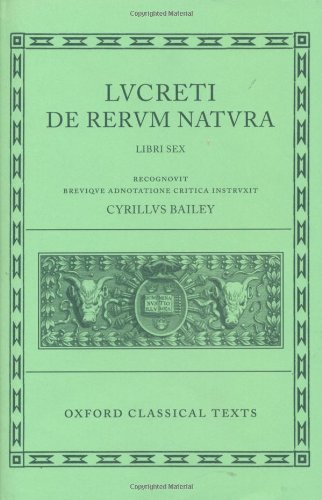 Lucretius De Rerum Natura: Bks.1-6 (Oxford Classical Texts)