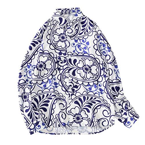 Aoogo Herren Hemden Business freizeithemd männer oberhemden Moderne Casual anzughemden Freizeit Männer Herbstmode Shirts Casual Printing Beach Shirts Langarm-Top Bluse