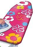 WENKO 1235642500 Bügeltischbezug Pink Flowers - dampfbügelgeeignet, Baumwolle, Mehrfarbig