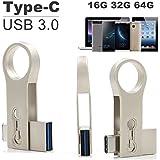 SETAYO 32GB USB-C a USB 3.0 Flash Drive Memory Stick con llavero para el MacBook Pro, Samsung Chromebook Además, Nexus 6P 5X, Google píxeles, G5 LG, HTC y Más 10 -Estilo B