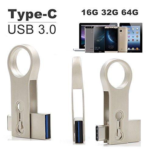 G5-laufwerke (SETAYO 64GB USB-C auf USB 3.0 Flash Drive 2 in 1 OTG Flash Laufwerk USB 3.1 Type C und USB 3.0 Speicherstick für MacBook Pro, Samsung Chromebook Plus, Nexus 6P 5X, Google Pixel, LG G5, HTC 10 und mehr (Stil B))