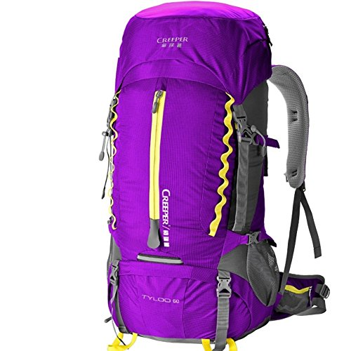 zaino esterno/60Lsacchetto di alpinismo/Zaino di spruzzi/Pacchetto a piedi-rosso 60L viola