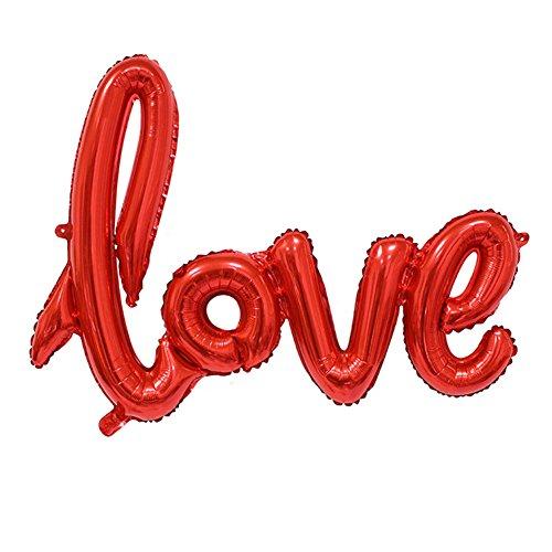 llons Folienballon Hochzeit Party Deko Buchstabeballons-Rot- (Rot Folienballons)