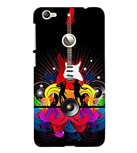 Music and Guitar 3D Hard Polycarbonate Designer Back Case Cover for LeEco Le 1s :: LeEco Le 1s Eco :: LeTV 1S