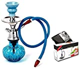 #3: JaipurCrafts Premium Combo Of 12 Inch Glass, Iron Hookah And Premium Hookah Flavour