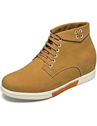CHAMARIPA Chaussures rehaussante Cuir Lacer Sneakers Hommes - Plus Grand DE 6 cm - H72C55Y132D aJN0k