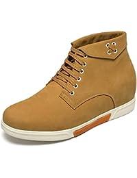 CHAMARIPA Chaussures rehaussante Cuir Lacer Sneakers Hommes - Plus Grand DE 6 cm - H72C55Y132D