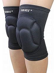 Dehang - Rodillera Soporte Protección Protector Deportiva Ajustable de Rodilla para Gimnasio Fútbol Baloncesto Fitness - Negro