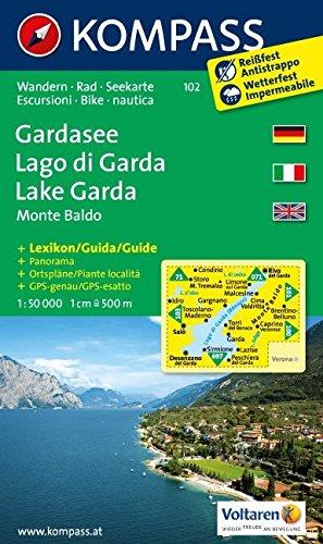 Carta escursionistica n. 102. Lago di Garda, Monte Baldo-Gardasee. Adatto a GPS. Digital map. DVD-ROM