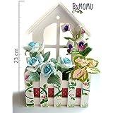 Flores de Porcelana Rusa Balcón colgante con Rosas Home Decor - HAND MADE