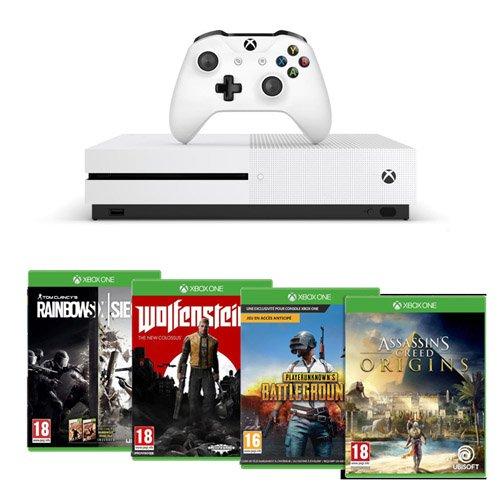 Pack Xbox One S 1 To Assassin's Creed Origins & Rainbow Six : Siege + Wolfenstein II + PlayerUnknown's Battlegrounds