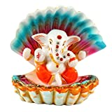 Aica Gifts Microfiber Lord Ganesha Murti Idol for Car Dashboard, 9x9x9cm(Multicolour)