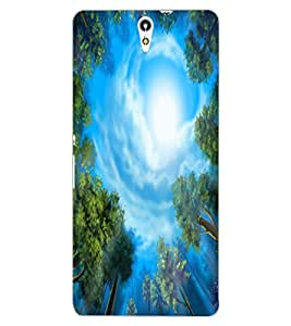ColourCraft Amazing Tree and Sky Look Design Back Case Cover for SONY XPERIA C5 ULTRA DUAL