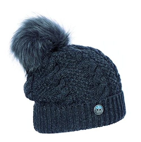 Kopfsache Bonnet en tricot pour femme Gris - Anthracite