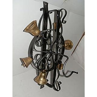 arterameferro Bell Bell in wrought iron for outdoor home garden wheel