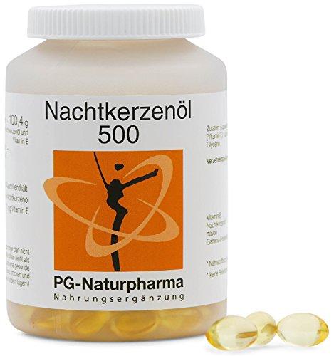 Nachtkerzenöl Kapseln mit Vitamin E - 150 Kapseln mit je 500mg Nachtkerzenöl (kaltgepresst) - Omega-6-Fettsäuren, Gamma-Linolensäure - 2,5-Monatsvorrat