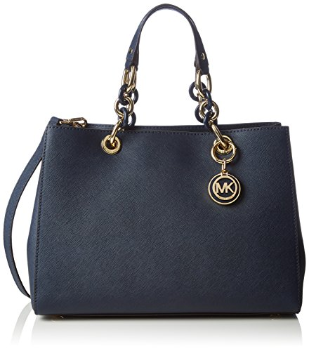 Michael Kors Cynthia Medium Leather Satchel -Price Tag,care Card, Qr Code