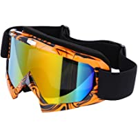 Zibuyu Ski Goggles Anti-Fog Uv400 Outdoor Sports Skiing Snowboard Goggles (Orange)