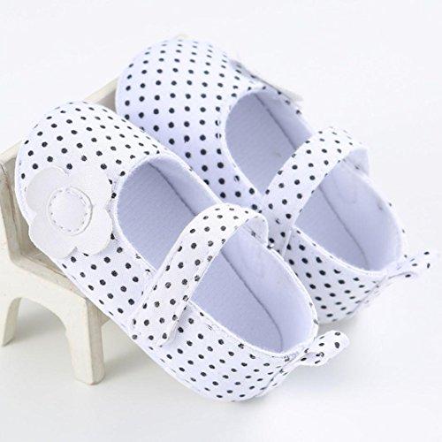 Winter Babyschuhe Jamicy® Baby Segeltuch Schuhe Turnschuh rutschfeste weiche alleinige Kleinkind Schuhe (12~18 Monat, Schwarz) Weiß