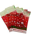 Wakerda 100pz Christmas Candy Magoats Natale autoadesivi per biscotti per bambini Christmas party supplies