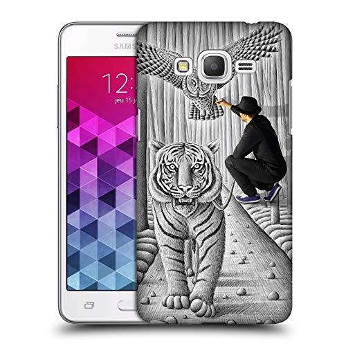 Head Case Designs Offizielle Ben Heine Tiger Und Eule Bleistift Gegen Kamera Ruckseite Hülle für Samsung Galaxy Grand Prime