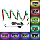 LEBRIGHT USB led strip LED TV Backlight,39 Inch 5V RGB Led strip Lights Kit for TV Gaming,Multi Color Waterproof Bias Lighting for HDTV( Reduce Eye Fatigue and Increase Image Clarity )