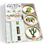Petits tableaux de cactus à broder: 30 jolis modèles à encadrer...