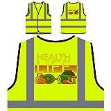 Gesundheit Leben Sporternährung Personalisierte High Visibility Gelbe Sicherheitsjacke Weste p571v