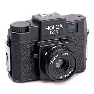 Holga Kreativ-Kamera 120N mit Objektiv 60mm f/8 Plastikkamera Kunststoffkamera Kreativkamera für Rollfilm 120