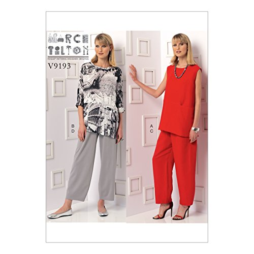 Jersey Drei-viertel-hosen (Vogue Mustern 9193F5Schnittmuster Tunika und Hose, Größe 16-24)