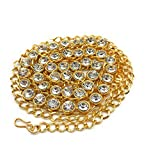 #4: Satyam Kraft Golden Traditional Diamond Metal Belly Chain For Women