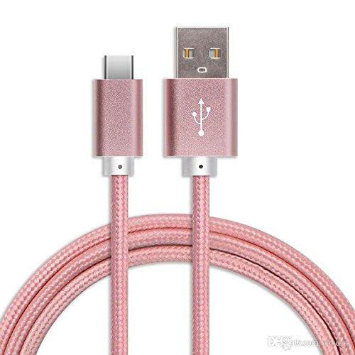 Preisvergleich Produktbild Langlebige USB-Typ C Nylon geflochtenes Kabel (2Meter) für die Xiaomi Mi Max 2mit High Speed Laden und Daten übertragen von Digi Pig®