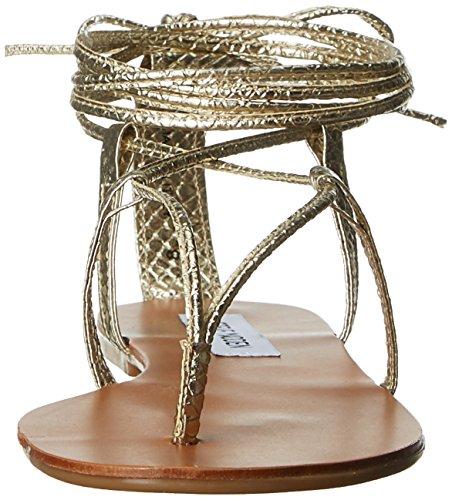 Steve Madden Werkit, Scarpe Col Tacco con Cinturino a T Donna Multicolore (Gold Snake)