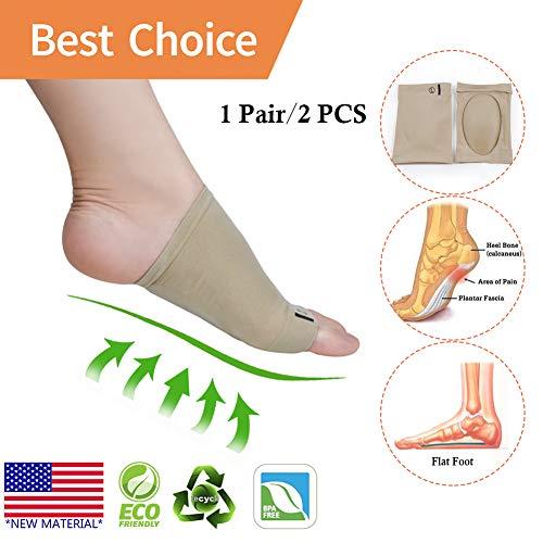 Arch Support *New Material* Arch Compression Sleeves/Socks with Comfort Gel Pad,Best for Plantar Fasziitis & Flat Feet/Fuß, Schmerzlinderung, für Männer & Frauen (2 Paar) (Arch Support Sleeve)