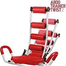 OEM Abdo Trainer Twist - Banco de abdominales con tensores, color rojo