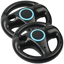 Generic 2 x Black Steering Mario Kart Racing Wheel for Nintendo Wii Remote Game [Importación Inglesa]