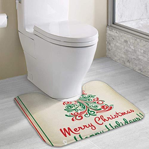Hoklcvd Personalisierte Toilette Eigene Fotos gestalten WC U-förmige MatteCartoon Weiche Matte Dusche Boden Teppichboden Badezimmer New20 -