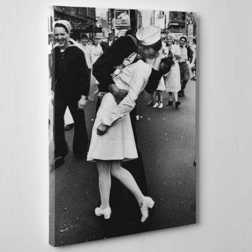 Leinwand modernen Malerei - Kiss v-j Day in Times Square - NY New York - Alfred eisenstaedt - (Cod. 117), Dicke: Standard, 2 cm, Size: 28x40 inch