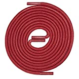 LACCICO Schnürsenkel ROT   rund reißfest gewachst   45-150 cm & Ø 2,5 mm; Farbe:Rot, Länge:90 cm