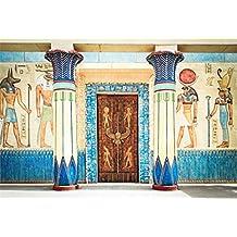 YongFoto 3x2m Fondos Fotograficos Antiguo Egipto Escena Murales Faraón Templo Jeroglífico Papiro Egipcio Fondos para Fotografia