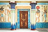YongFoto 2,2x1,5m Vinyl Foto Hintergrund Antikes Ägypten Szene Wandbilder Pharao Tempel Hieroglyphisch Ägyptischer Papyrus Fotografie Hintergrund für Fotoshooting Portraitfotos Fotografen Kinder Fotostudio Requisiten